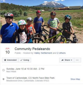 June 10 event Community Pedeleando Carbondale
